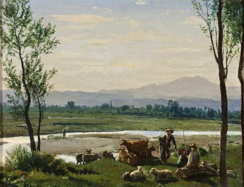 """Enrico Sartori, """"Veduta della Val Baganza"""""""